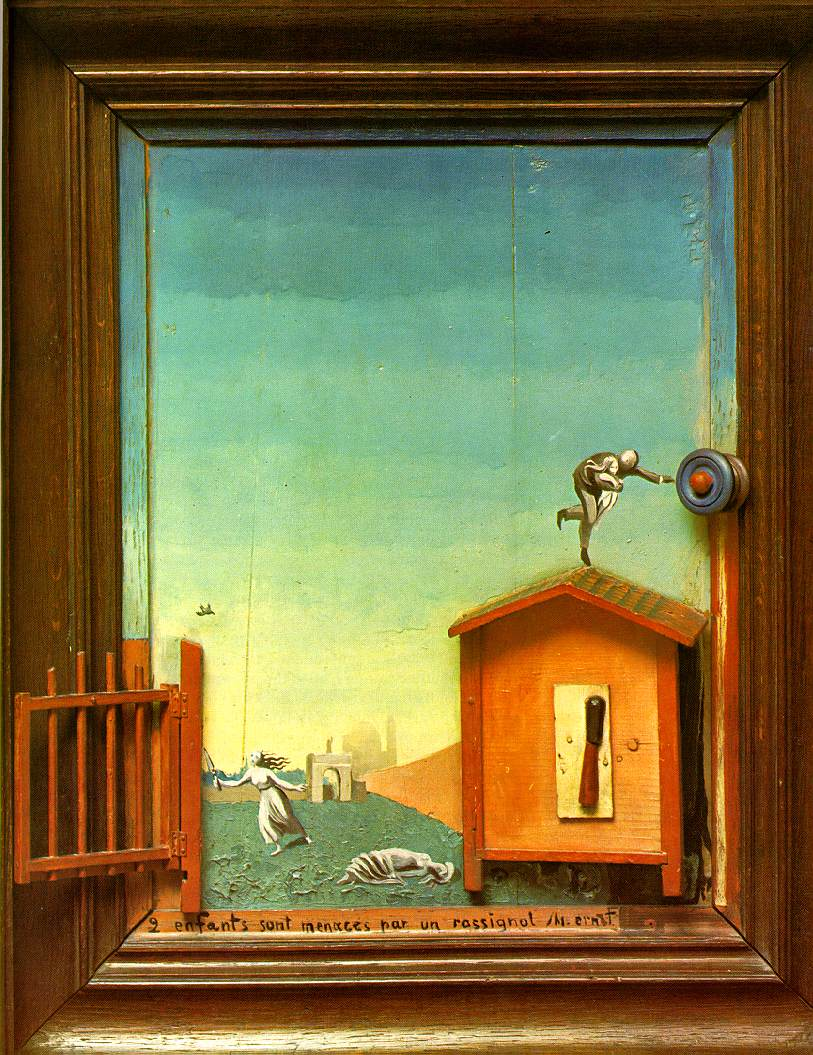 "Max Ernst: ""Two Children Are Threatened By A Nightingale"""