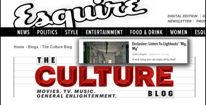 "Esquire Mag debuts our new single ""My My"""